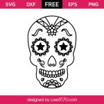 3104 Sugar Skull Floral and Stars