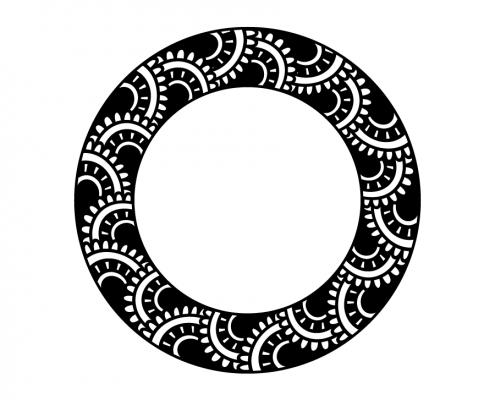 3105 Doodle Monogram Frame