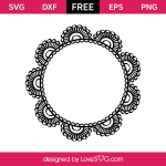 3106 Lace Doodle Monogram Frame
