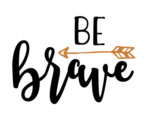 Free SVG Cut File - Be brave