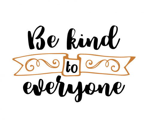 Free SVG Cut File - Be kind to everyone