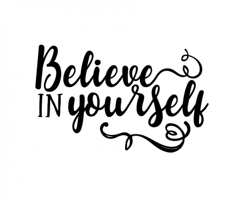 Free SVG Cut File - Believe in yourself