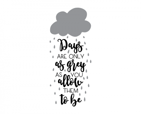 Free SVG Cut File - Days are only as grey as you allow them to be