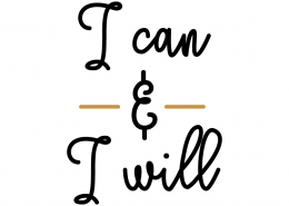 Free SVG Cut File - I can and I will