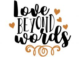 Free SVG Cut File - Love beyond words