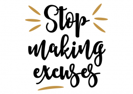 Free SVG Cut File - Stop making excuses
