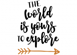Free SVG Cut File - The world is yours to explore