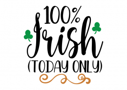 Free SVG cut file - 100% Irish (Today Only)