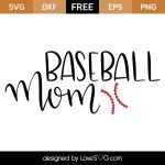Free SVG cut file - Baseball Mom