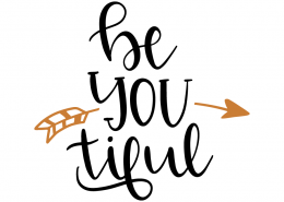 Free SVG cut file - Be you tiful