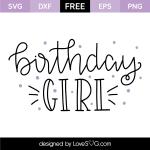 Free SVG cut file - Birthday Girl