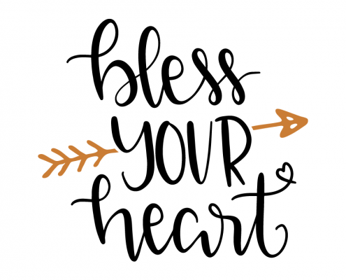 Free SVG cut file - Bless your heart