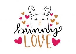 Free SVG cut file - Bunny Love
