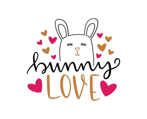 Free SVG cut file - Bunny Love