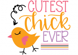 Free SVG cut file - Cutest Chick Ever