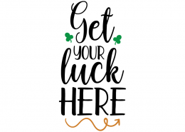 Free SVG cut file - Get your luck here