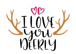 Free SVG cut file - I love you deerly