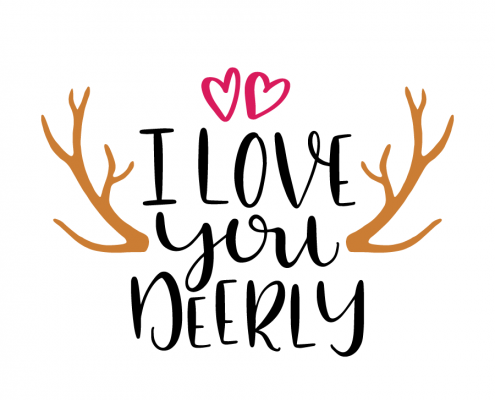 Free SVG cut file - I love you deerly