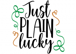Free SVG cut file - Just plain lucky