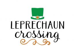 Free SVG cut file - Leprechaun crossing