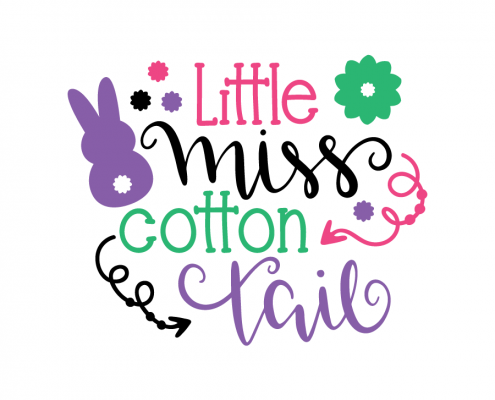 Free SVG cut file - Little Miss Cotton Tail