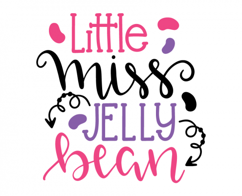 Free SVG cut file - Little miss Jelly Bean