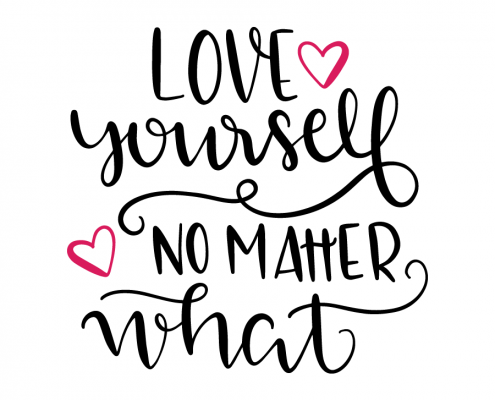 Free SVG cut file - Love yourself no matter what
