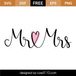 Free SVG cut file - Mr & Mrs