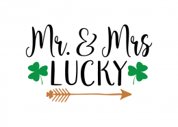 Free SVG cut file - Mr. & Mrs. Lucky