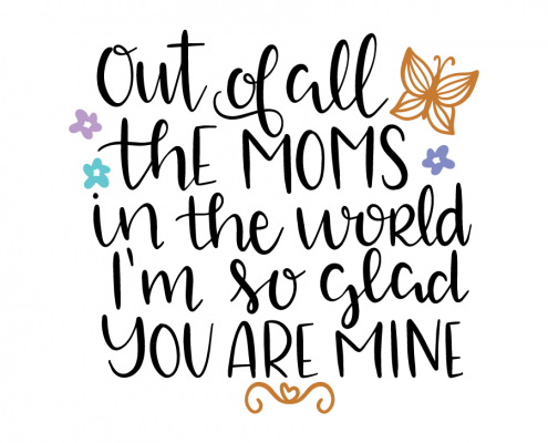 Free SVG cut file - Out of all the moms