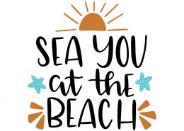 Free SVG cut file - Sea you at the beach