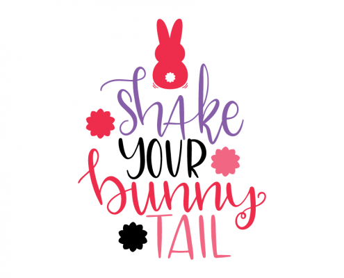 Free SVG cut file - Shake your bunny tail