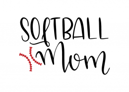 Free SVG cut file - Softball Mom