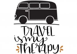 Free SVG cut file - Travel is my Therapy