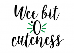 Free SVG cut file - Wee bit 'o cuteness