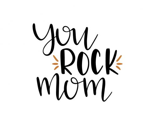Free SVG cut file - You Rock Mom