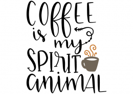 Free SVG cut files - Coffee is my spirit animal