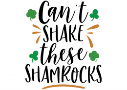 Free SVG cute file - Can't shake these shamrocks