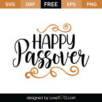 Free SVG cute file - Happy Passover