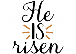 Free SVG cute file - He is Risen