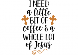 Free SVG cute file - I need a little bit of coffee