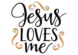 Free SVG cute file - Jesus loves me