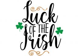 Free SVG cute file - Luck of the Irish