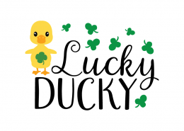 Free SVG cute file - Lucky ducky