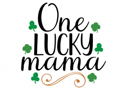 Free SVG cute file - One lucky mama