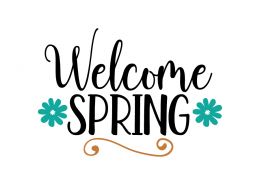 Free SVG cute file - Welcome Spring
