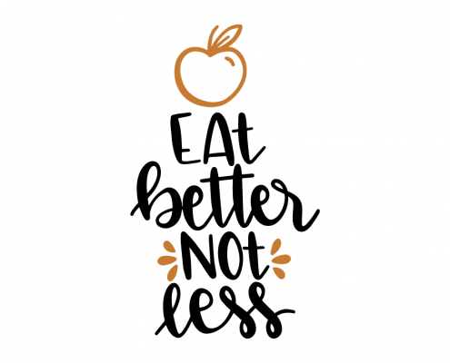 Free SVG file - Eat better not less