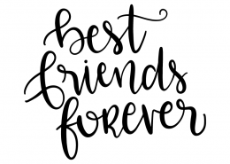 Free SVG cut file - Best friends forever
