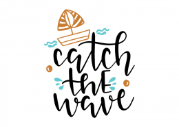Free SVG cut file - Catch the wave