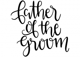 Free SVG cut file - Father of the groom